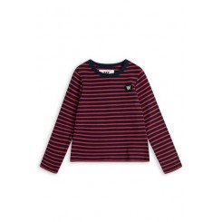Kim Kids longsleeve i navy strib fra Wood Wood